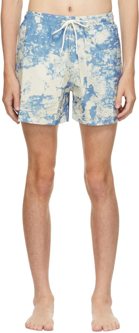 Blue 'Too Short For Me' Swim Shorts