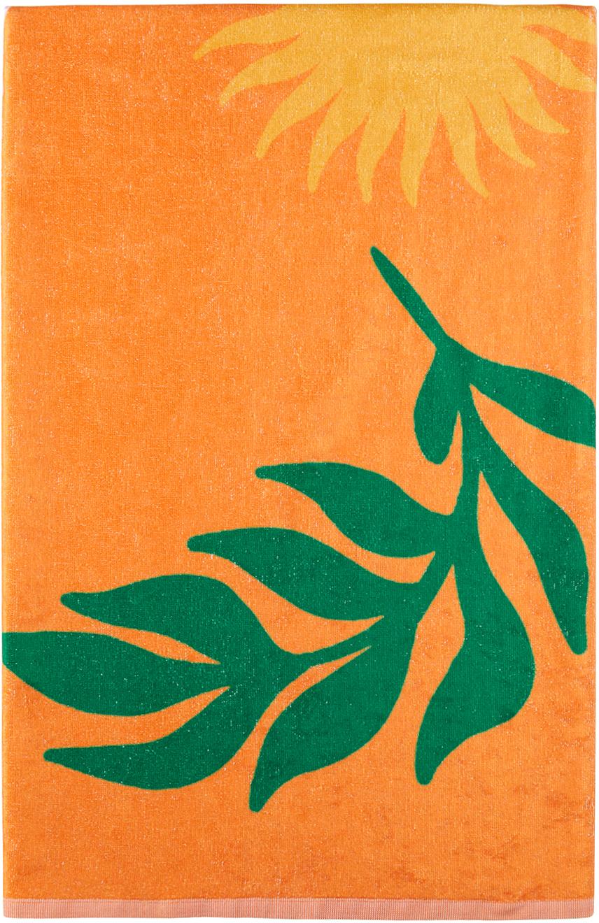 Orange Wet Summer Towel