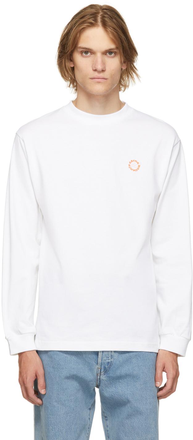 White Organic Cotton Titanic Tits Long Sleeve T-Shirt
