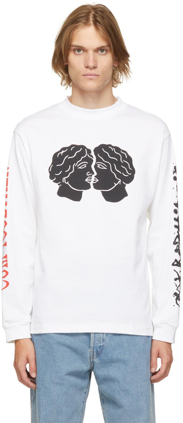 White Organic Cotton Juranal Park Long Sleeve T-Shirt