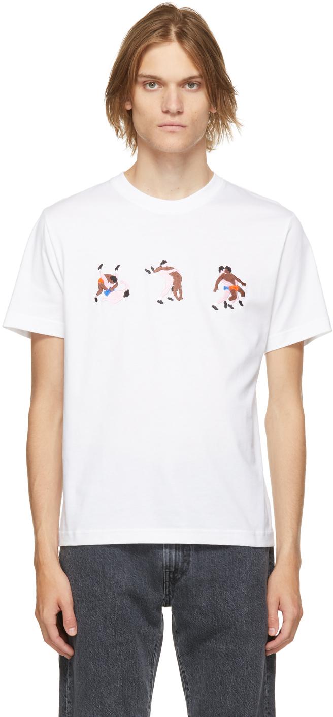 White Organic Cotton Fight Cum T-Shirt