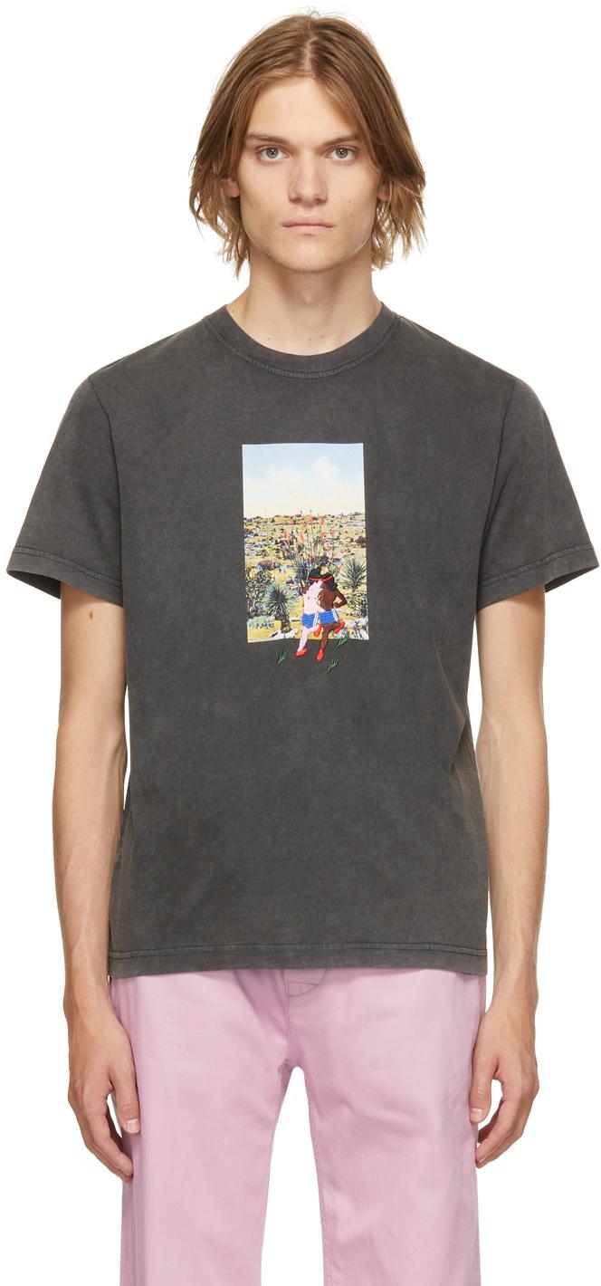 Carne Bollente Black Organic Cotton Boldfinger T-Shirt