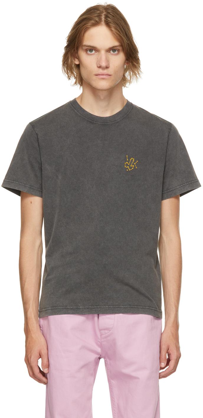 Black Organic Cotton Space Nuts T-Shirt