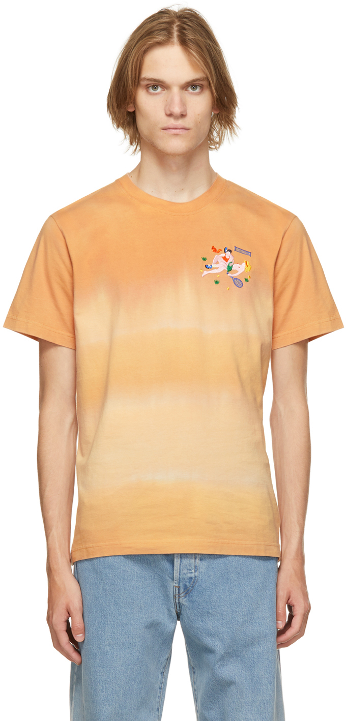 Carne Bollente Orange Organic Cotton Tie-Dye Wimbledong T-Shirt