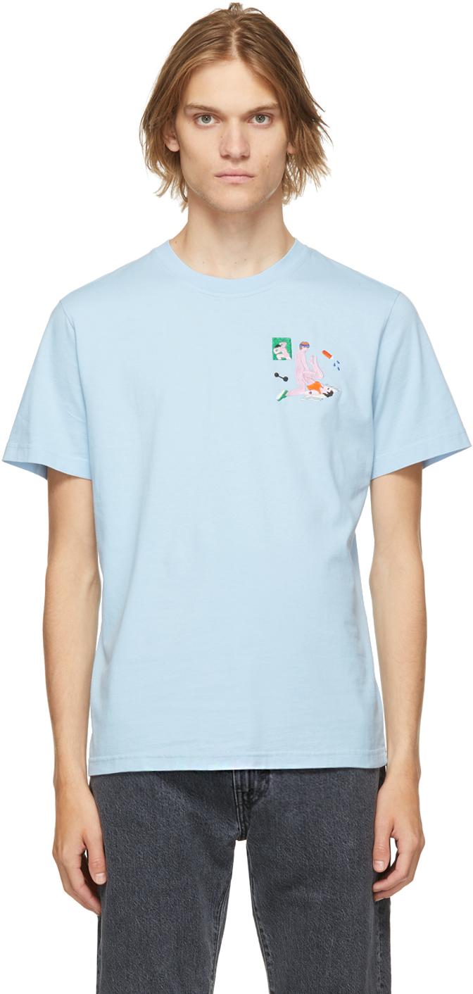 Blue Organic Cotton Aerodick T-Shirt