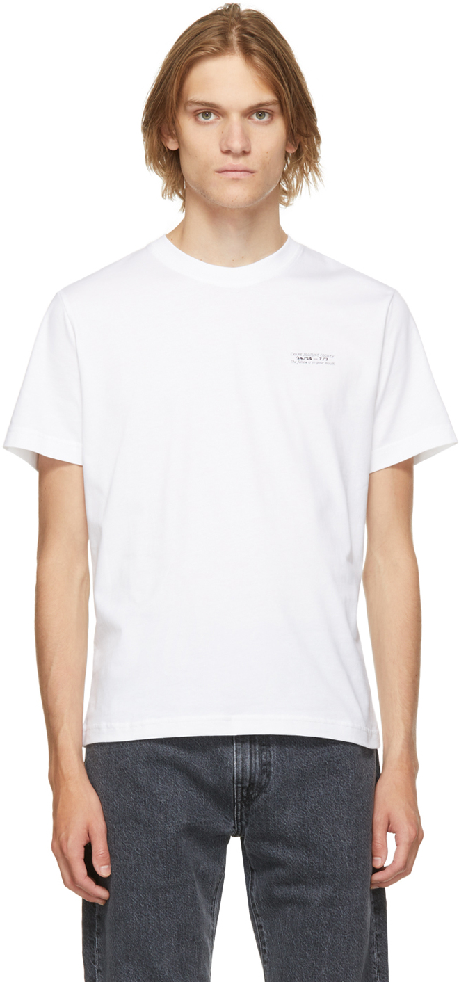 White Organic Cotton 'The Future Is In Your Mouth' T-Shirt