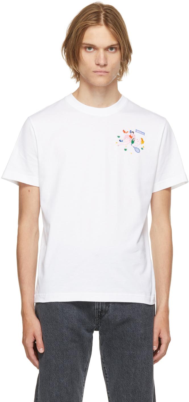 White Organic Cotton Wimbledong T-Shirt