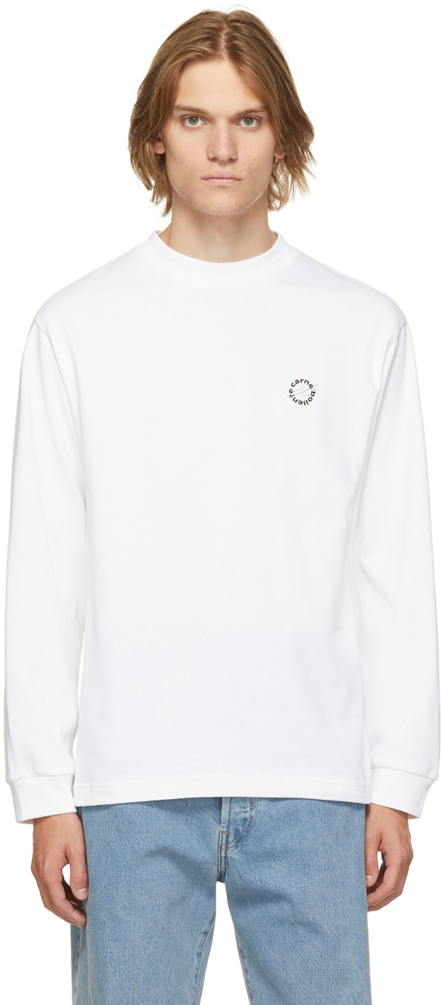 White Organic Cotton Pussy Power Long Sleeve T-Shirt