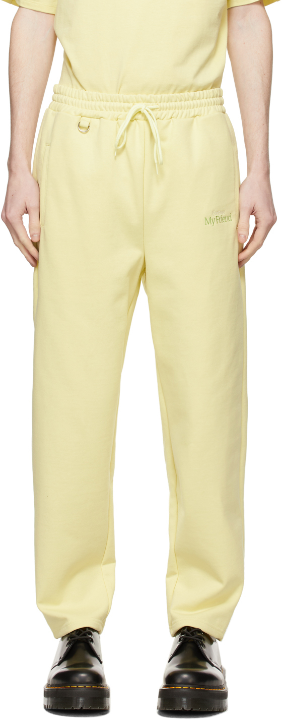 Yellow 'With My Friend' Sweatpants