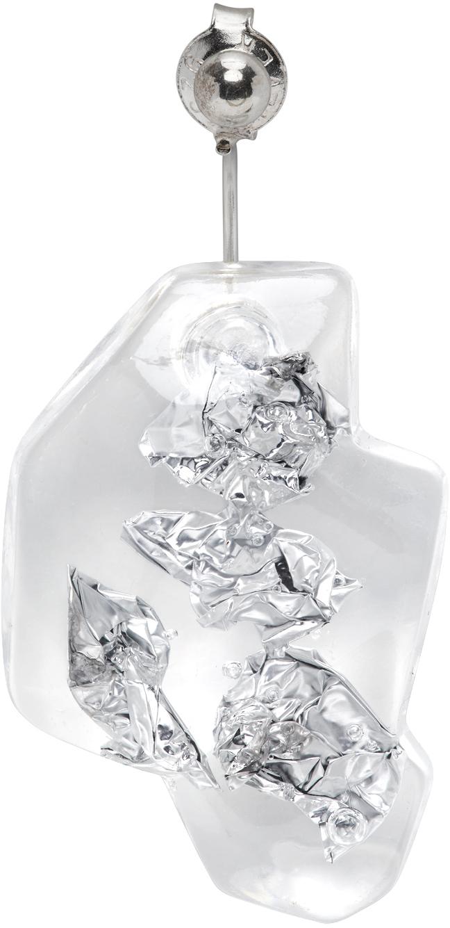 Silver Steny Single Earring