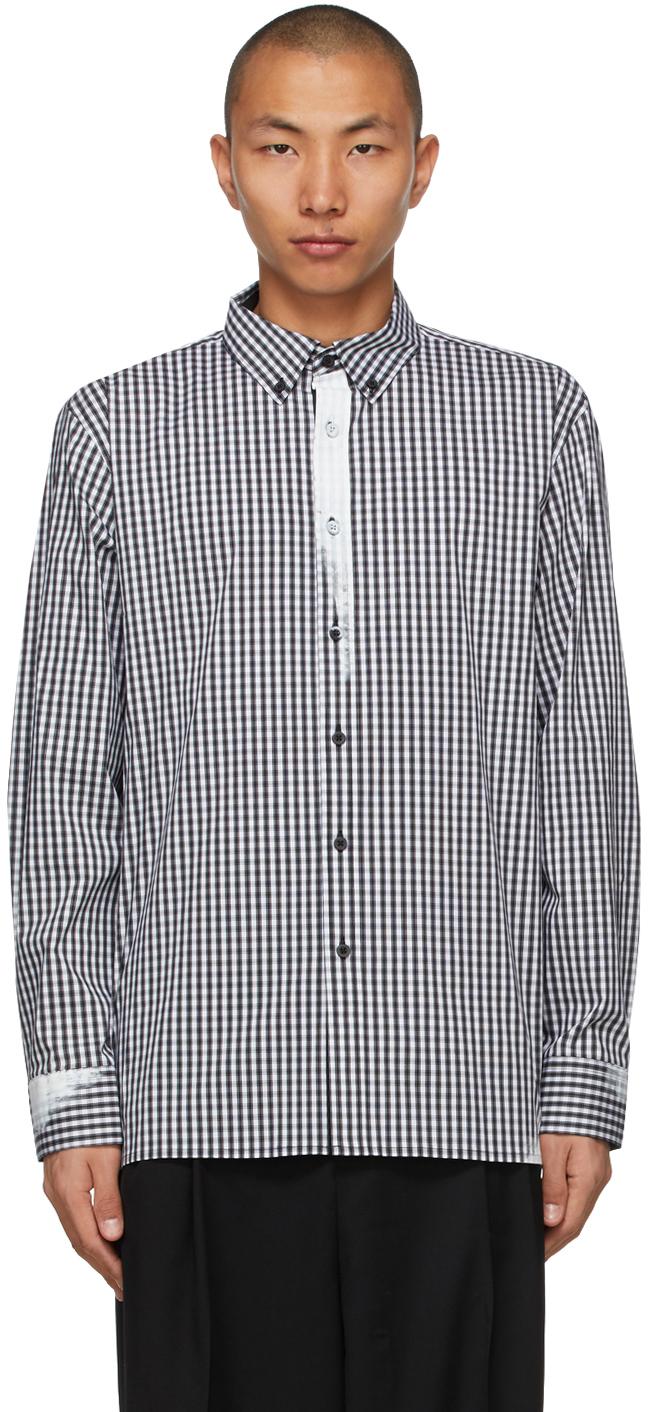 Black & White Check Paint Shirt