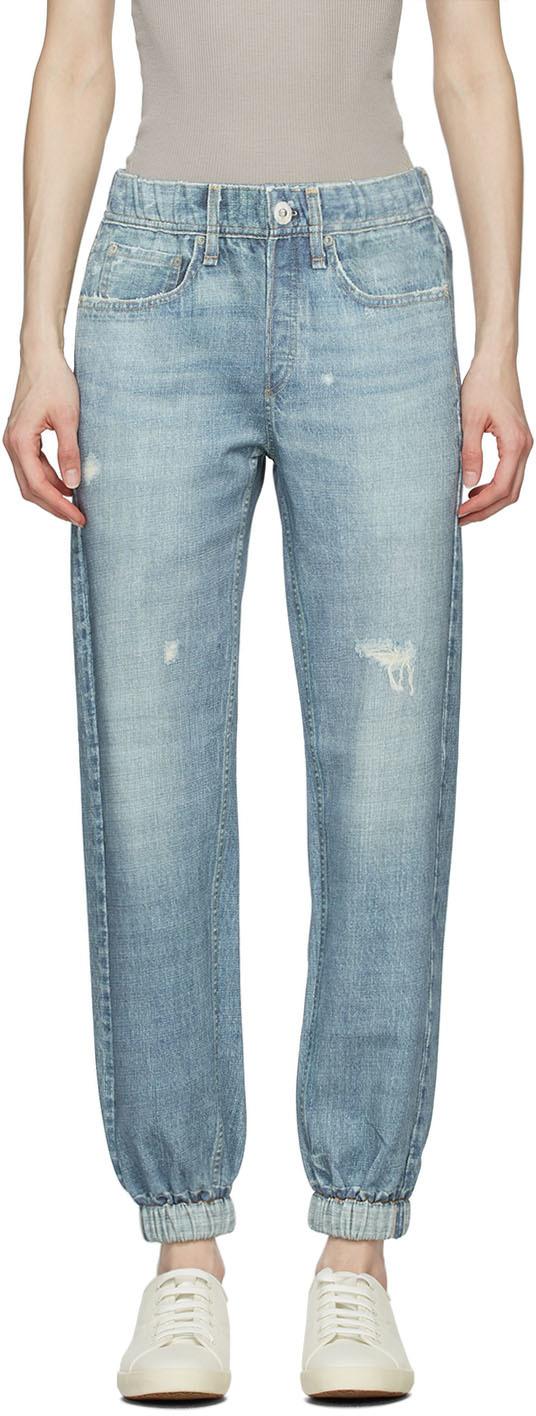 Blue Miramar Jogger Lounge Pants