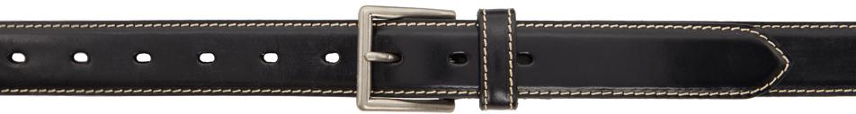 Black Bridle Leather Belt