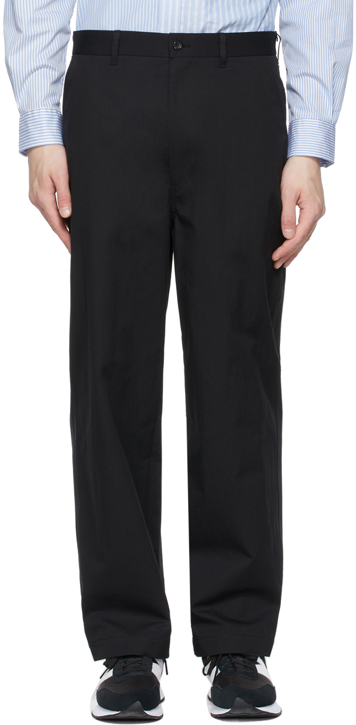 Black Cotton Weather Trousers