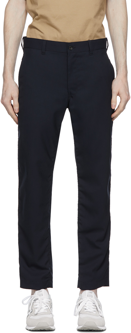 Navy Tropical Wool Trousers
