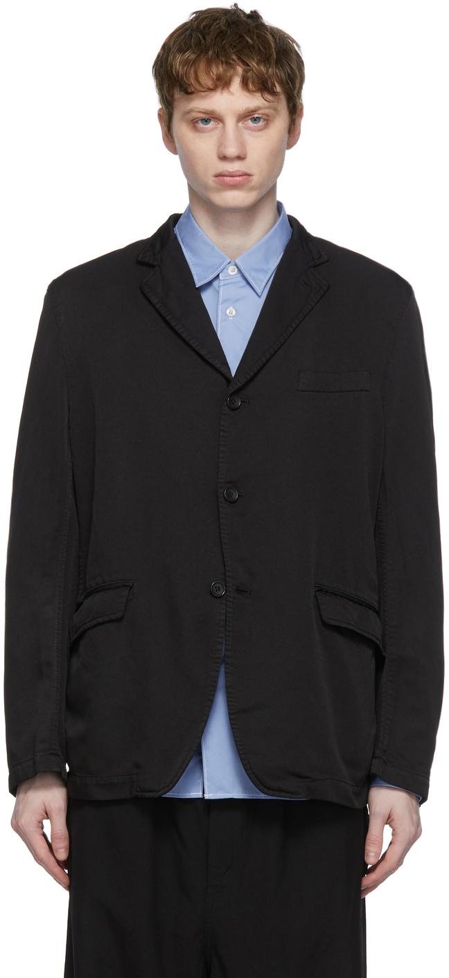 Black Garment-Dyed Blazer