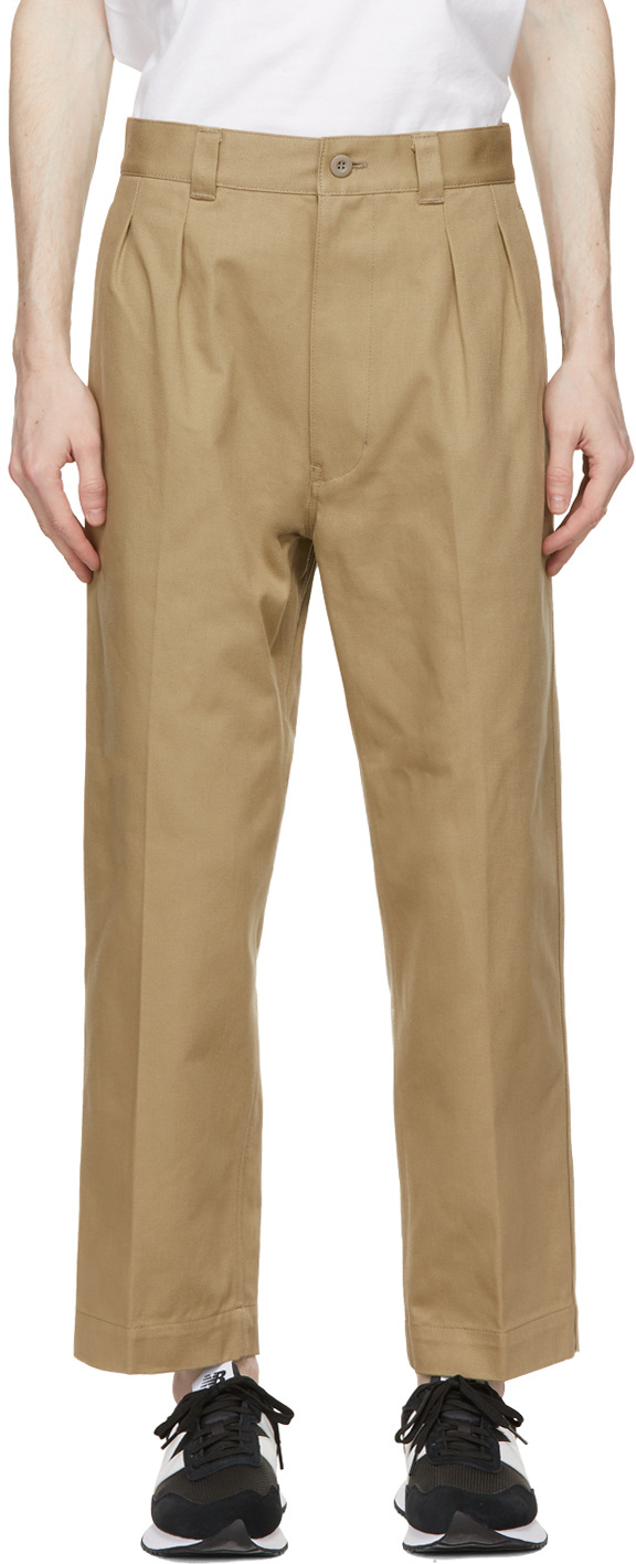 Beige Cotton Drill Trousers