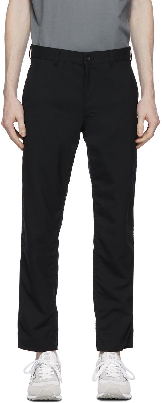 Black Tropical Wool Trousers
