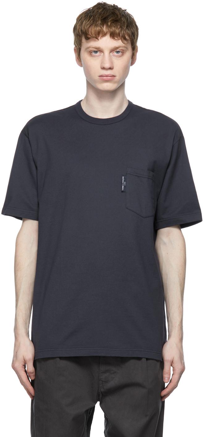 Navy Garment-Dyed Pocket T-Shirt
