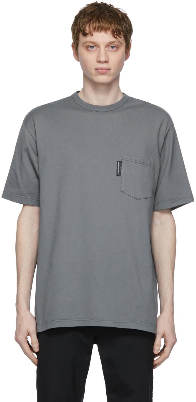 Grey Garment-Dyed Pocket T-Shirt