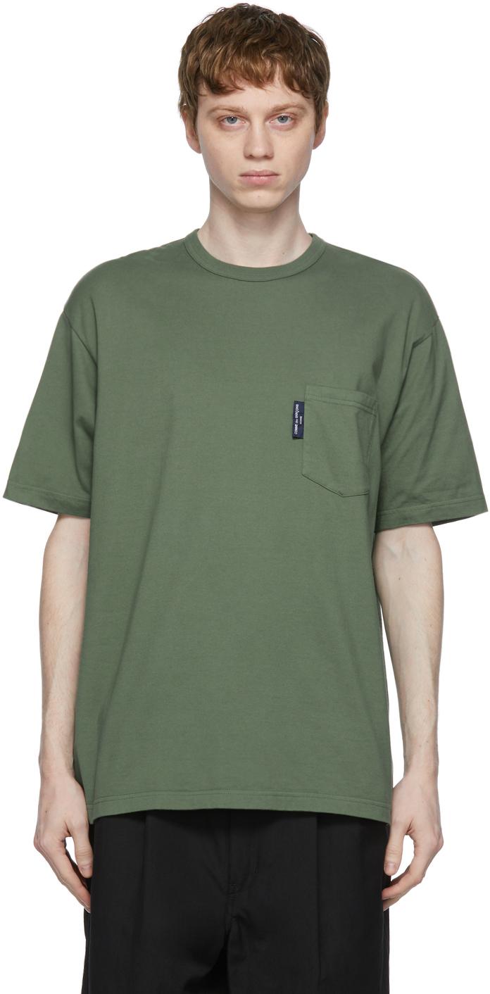Khaki Garment-Dyed Pocket T-Shirt