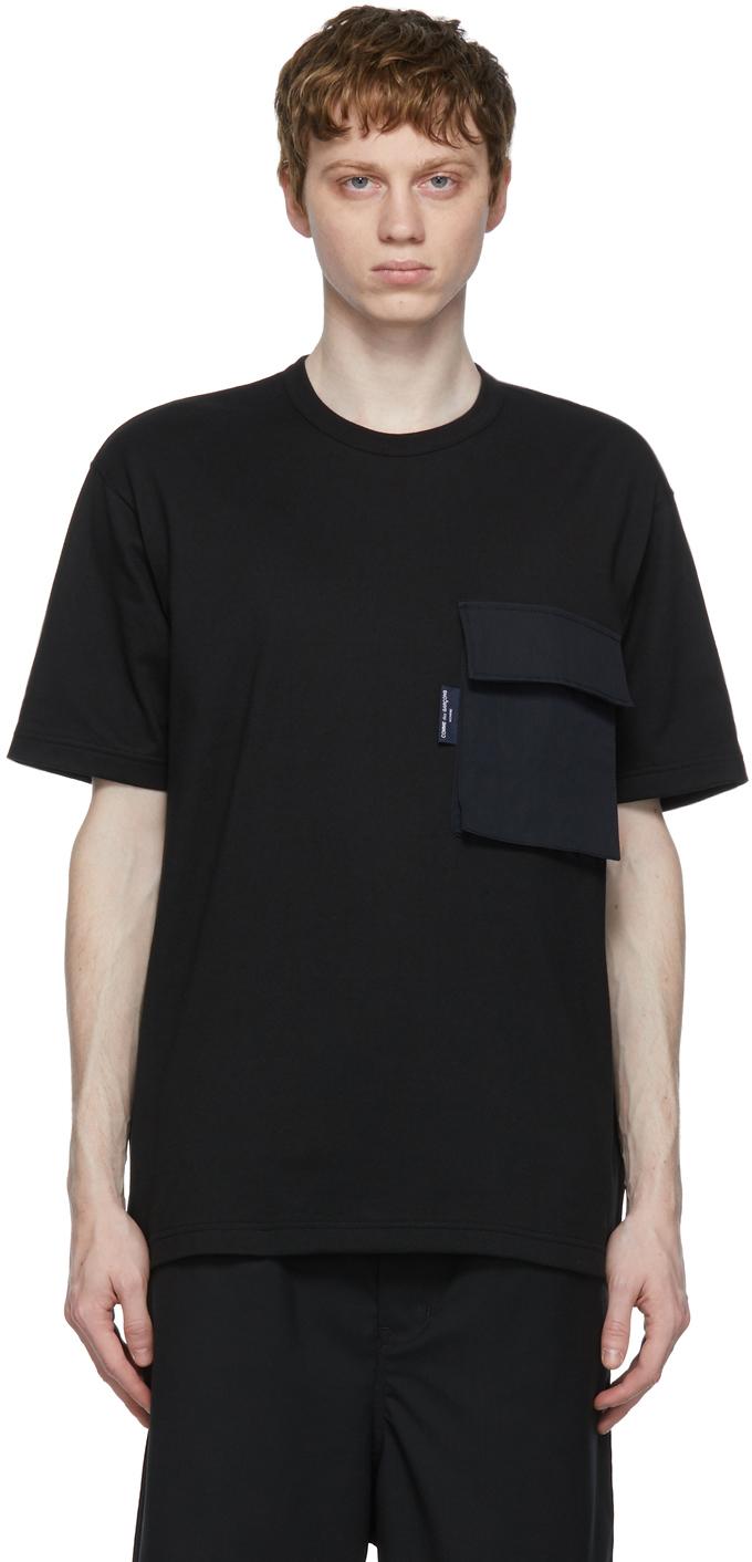 Black Flap Pocket T-Shirt