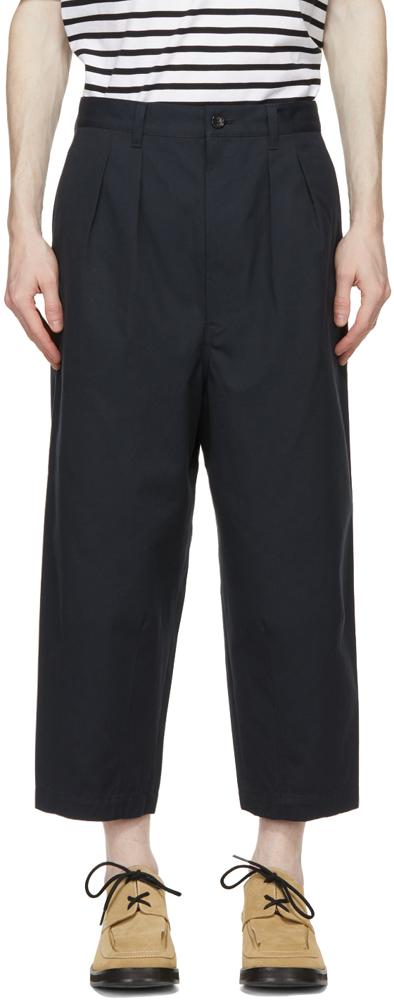 Navy Cotton Canvas Trousers