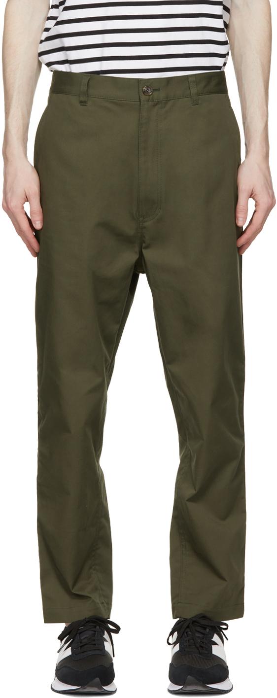 Khaki Cotton Chino Trousers