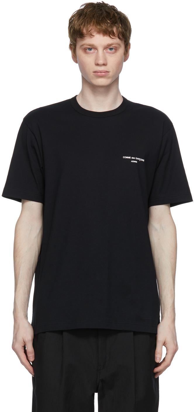 Comme des Garçons Homme 黑色徽标 T 恤