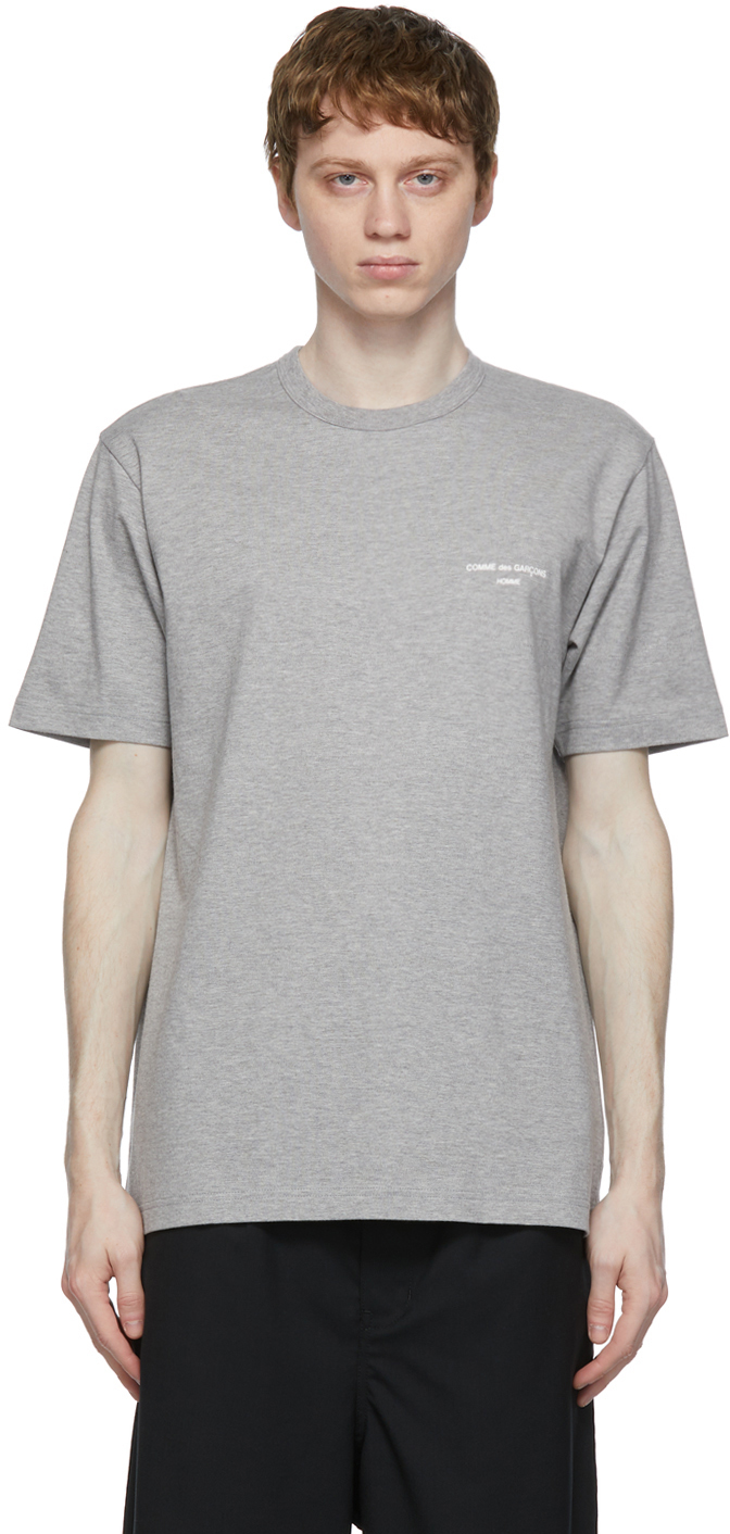 Comme des Garçons Homme 灰色徽标 T 恤