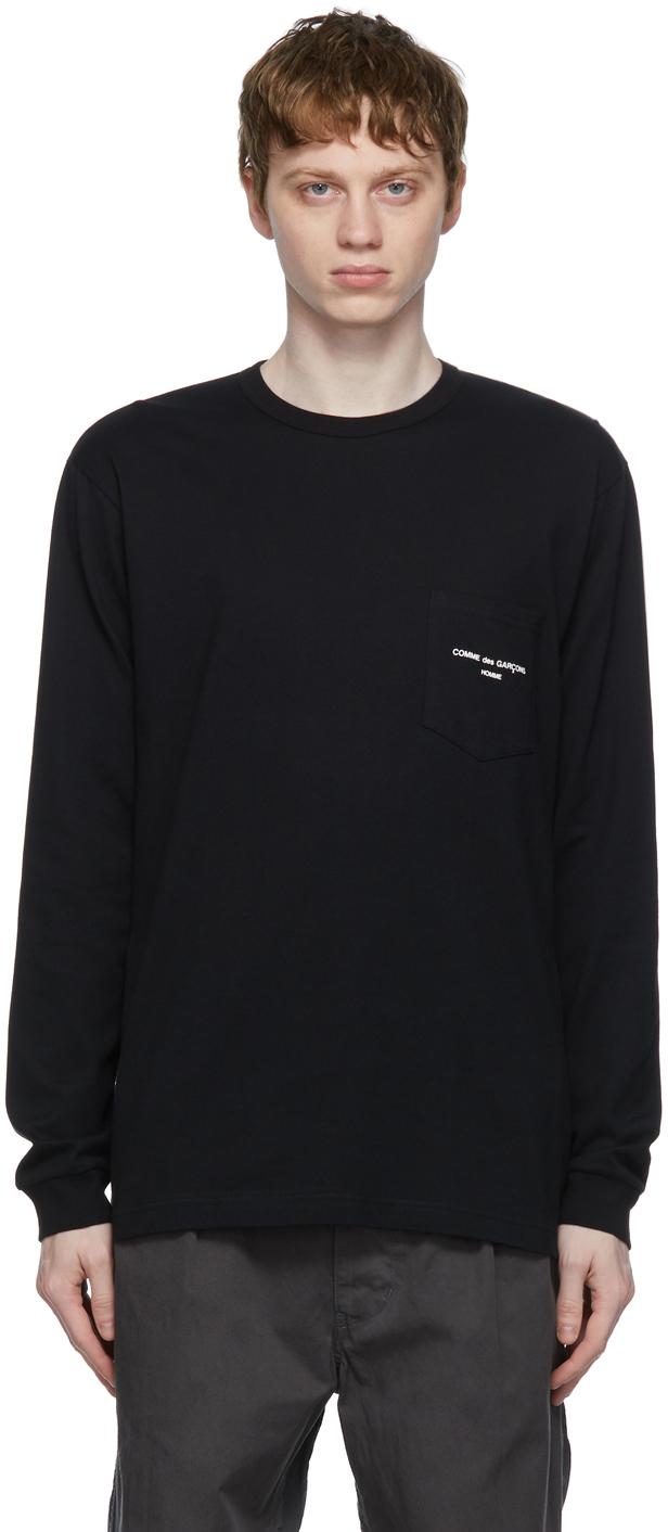 Black Logo Pocket Long Sleeve T-Shirt
