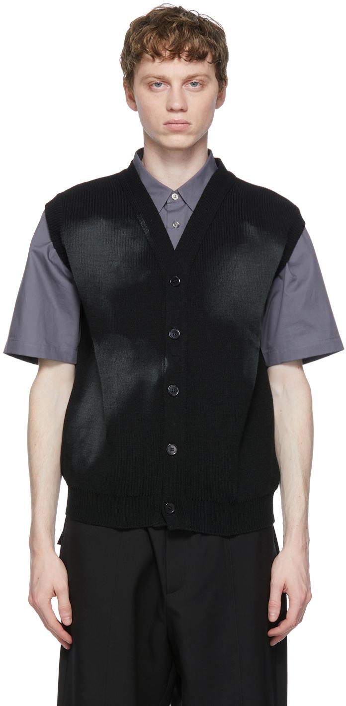 Black Lochaven of Scotland Edition Vest Cardigan