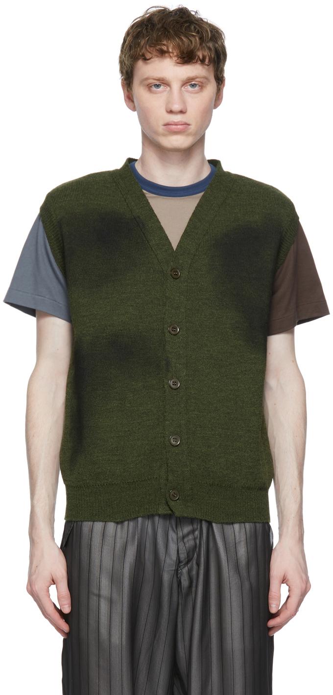 Khaki Lochaven of Scotland Edition Vest Cardigan