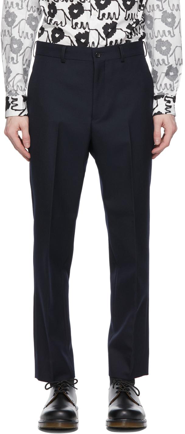 Navy Wool Serge Trousers