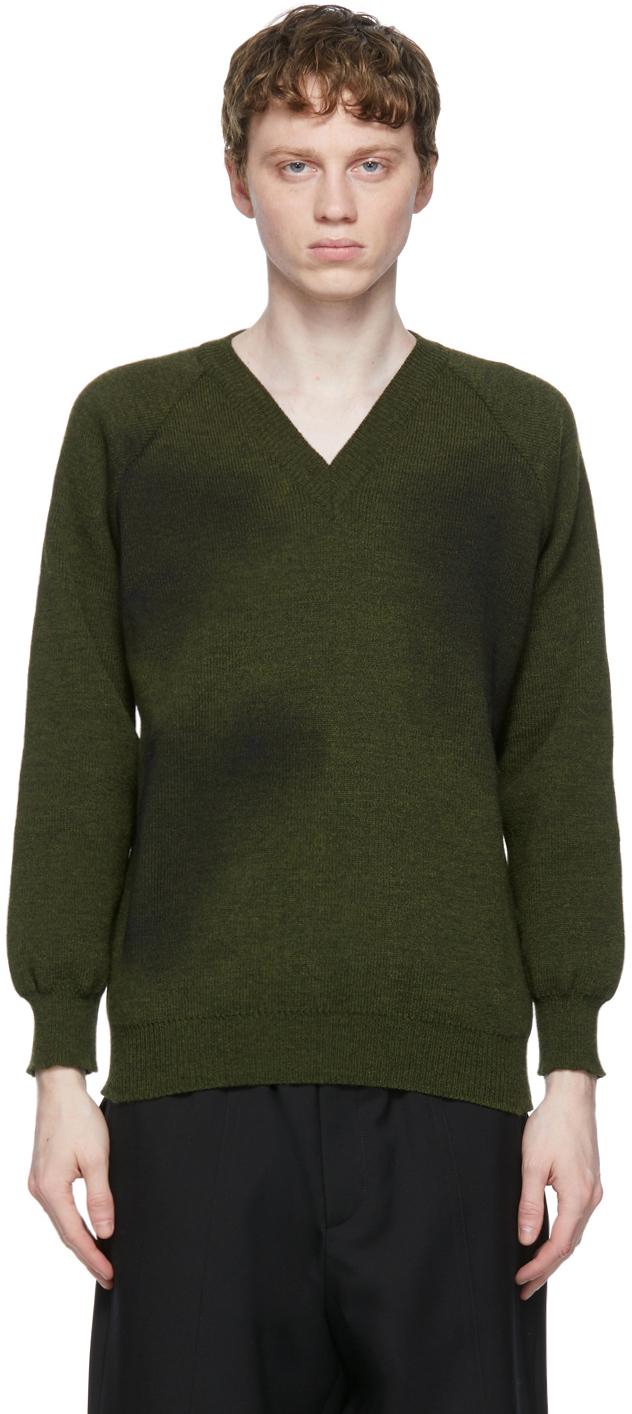 Khaki Lochaven of Scotland Edition V-Neck Sweater