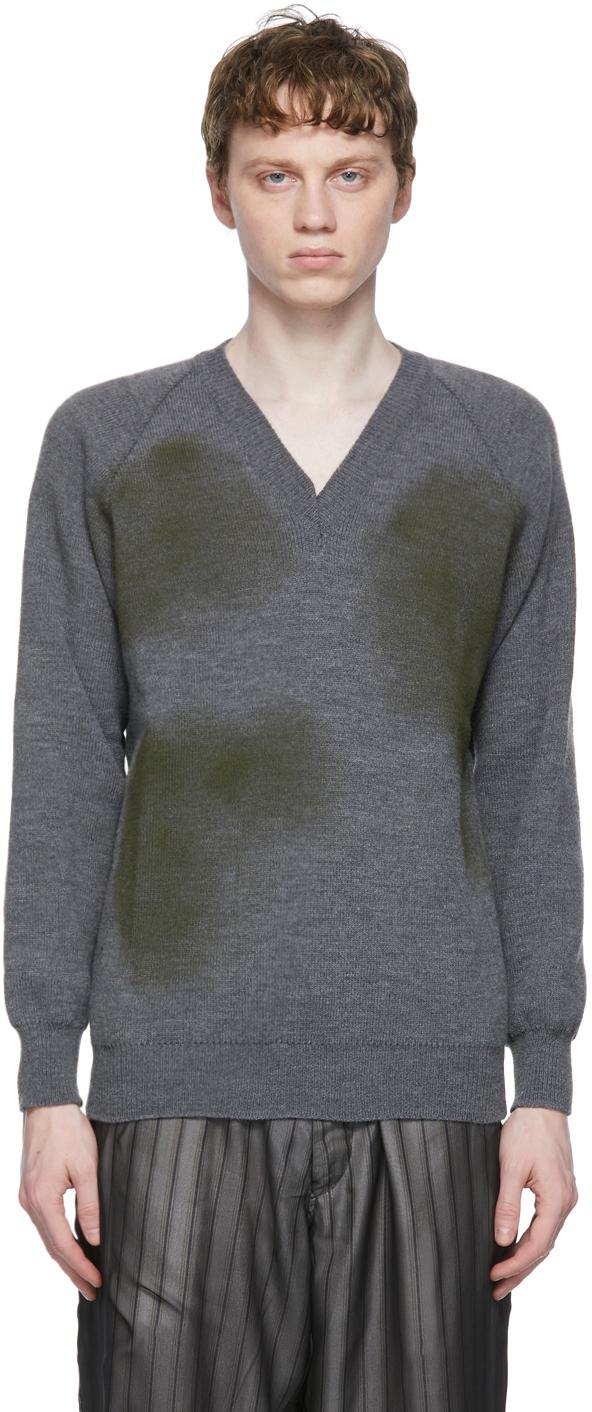 Grey Lochaven of Scotland Edition V-Neck Sweater