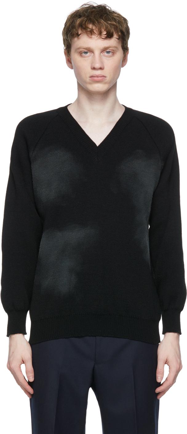 Black Lochaven of Scotland Edition V-Neck Sweater