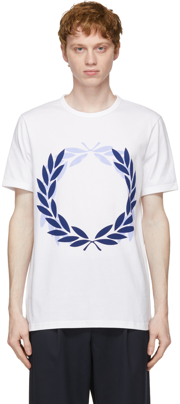 White Fred Perry Edition Laurel Wreath T-Shirt