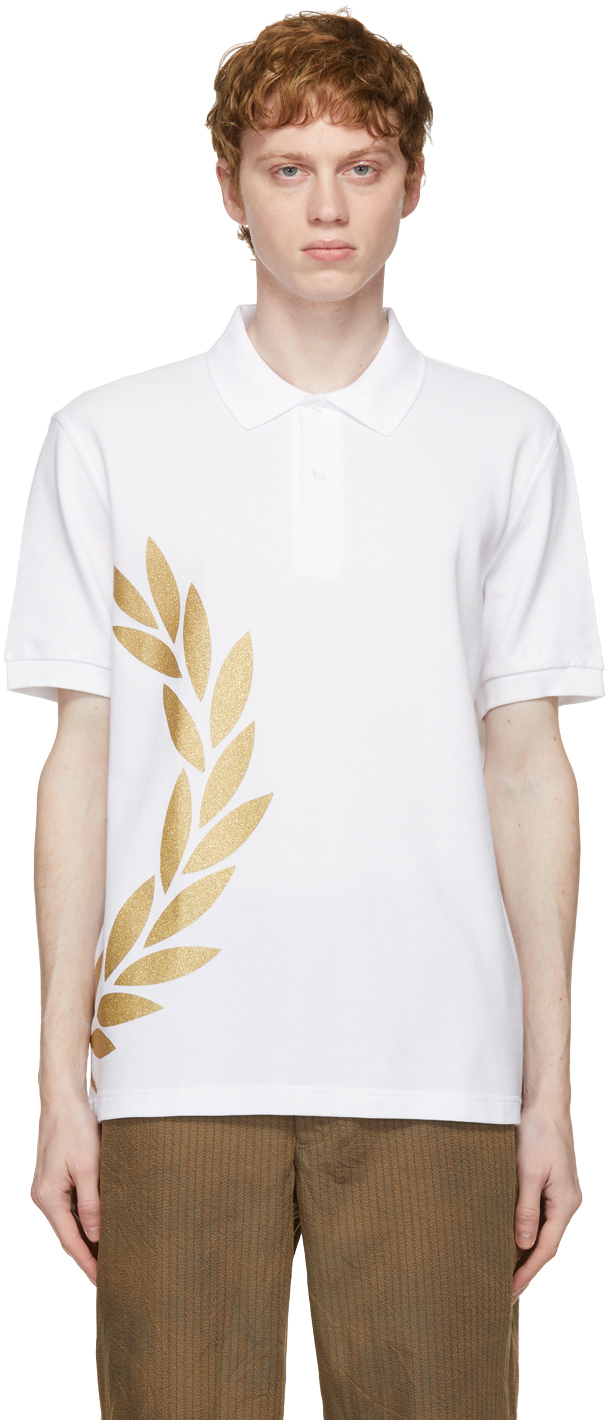White Fred Perry Edition Laurel Wreath Polo