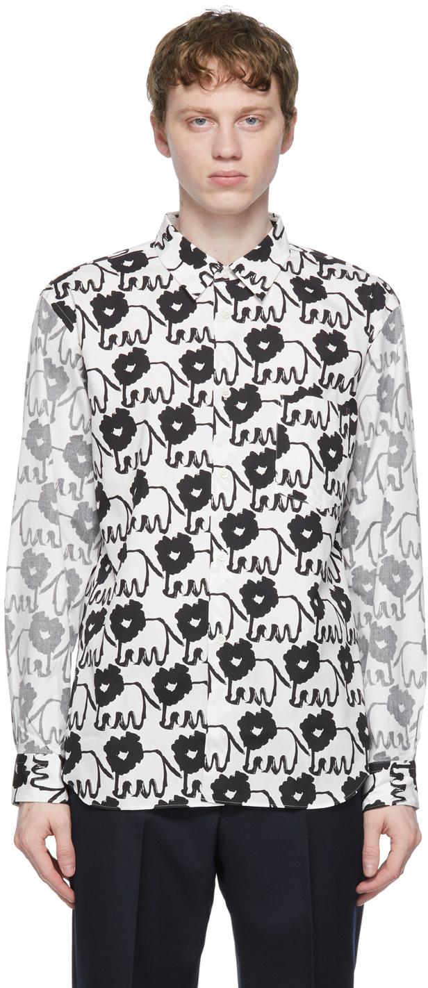 White & Black Dye Print Shirt