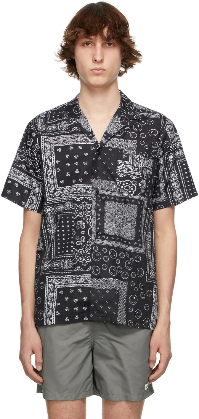 Black & White Bandana Camp Short Sleeve Shirt
