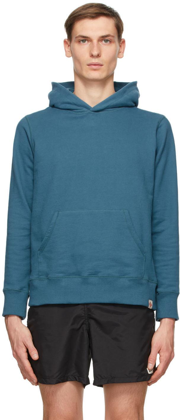 Blue Cotton Hoodie