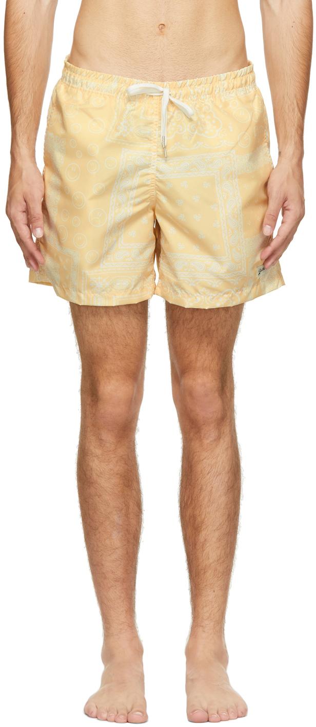 Yellow Bandana Swim Shorts