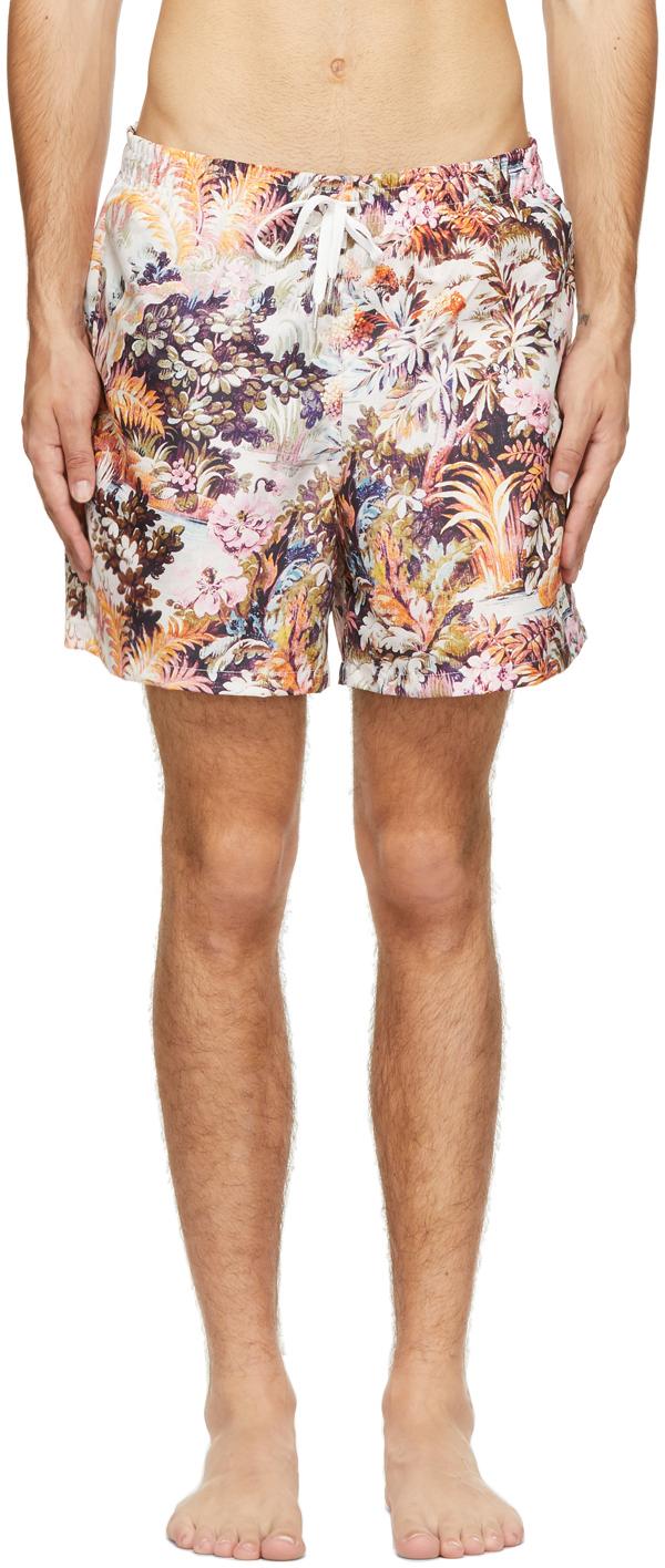 Multicolor Acid Forest Swim Shorts
