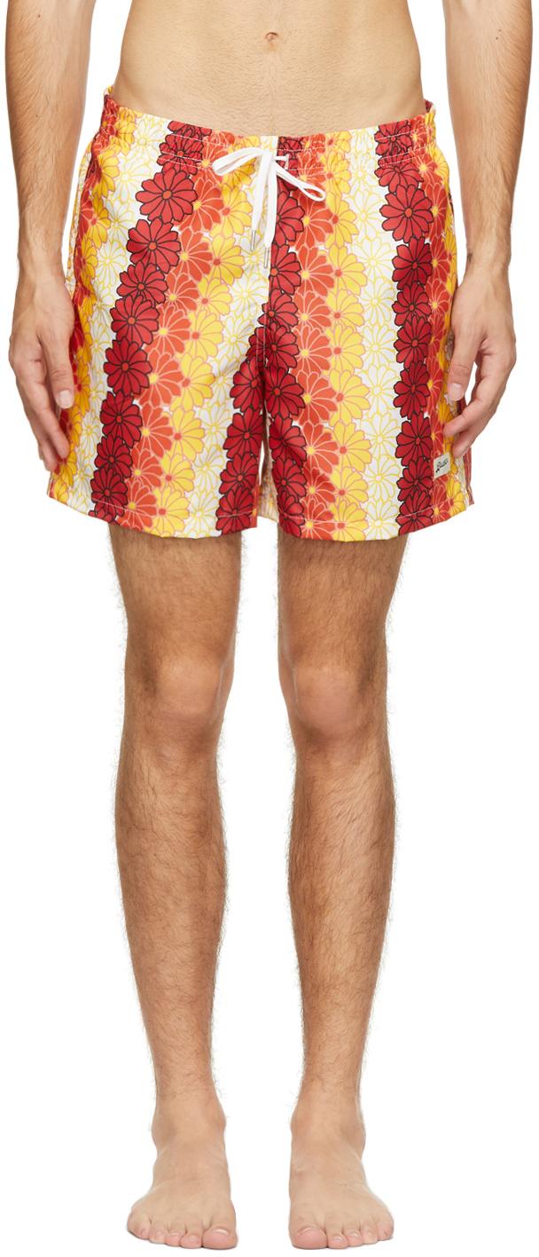 Orange Tropics Swim Shorts