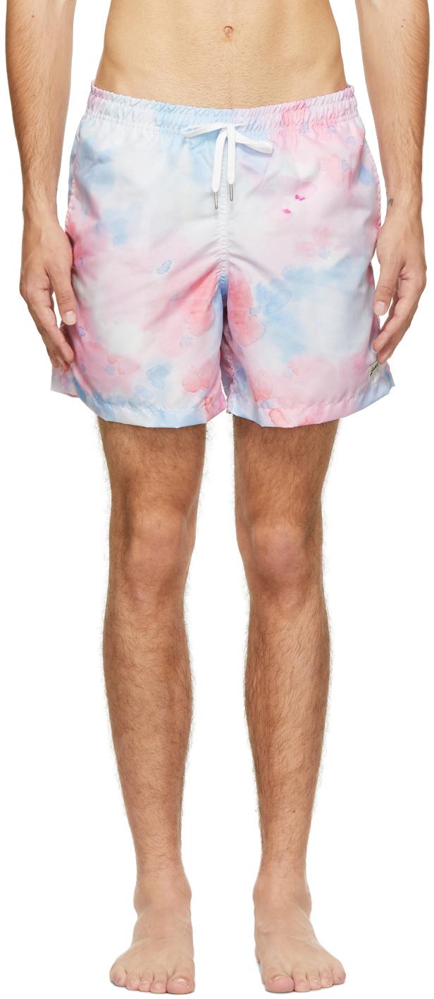 Blue & Pink Tie-Dye Swim Shorts