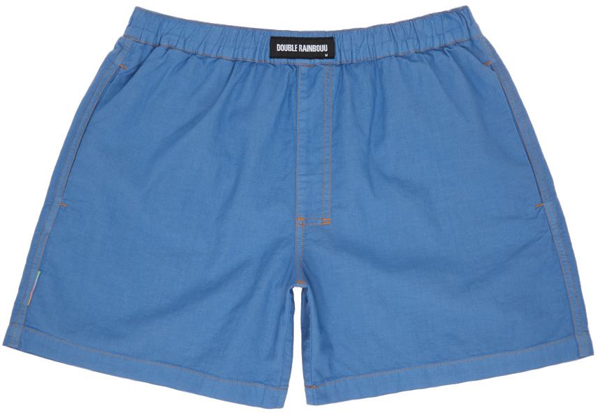 Blue Linen Boxers