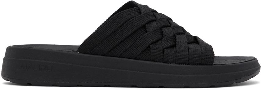 Black Nylon Zuma Sandals