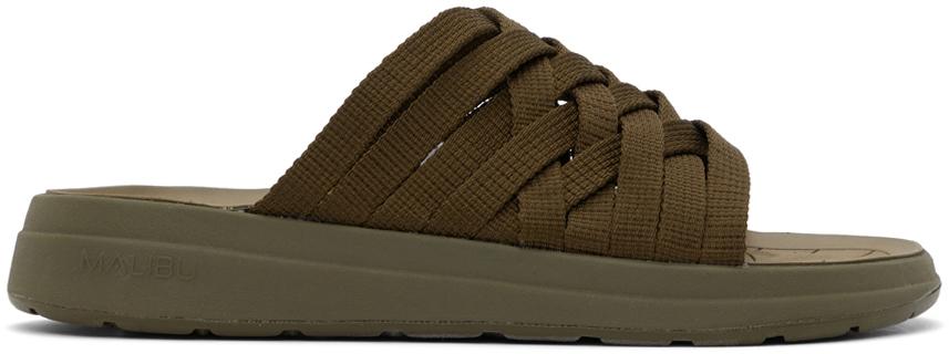 Green Nylon Zuma Sandals