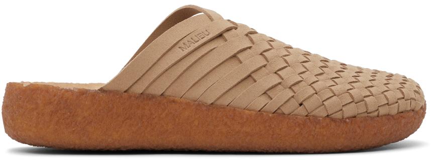 Beige Vegan Suede Colony Sandals